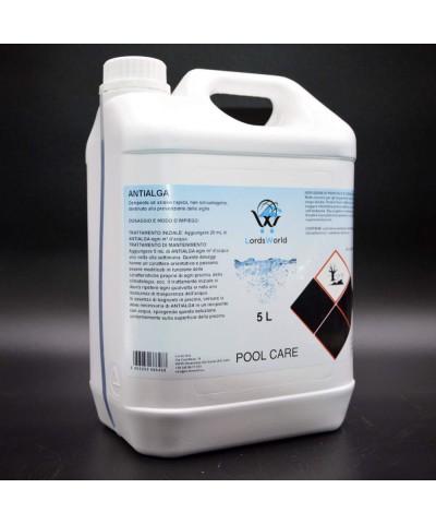 Inhibiteur d'algues en piscine - Algicide liquide sans mousse 5Lt LordsWorld Pool Care - 2