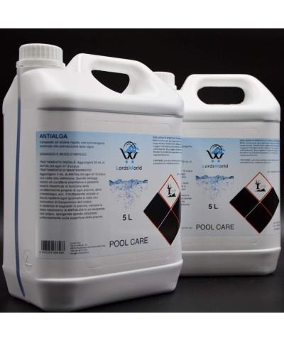 Inhibidor de algas en piscina - Alguicida líquido sin espuma 10Lt LordsWorld Pool Care - 2