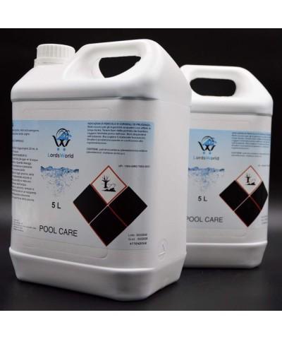 Inhibidor de algas en piscina - Alguicida líquido sin espuma 10Lt LordsWorld Pool Care - 3