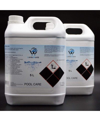 Inhibidor de algas en piscina - Alguicida líquido sin espuma 10Lt LordsWorld Pool Care - 1