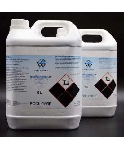 Inhibiteur d'algues en piscine - Algicide liquide sans mousse 10Lt LordsWorld Pool Care - 1
