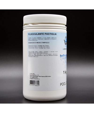 Flocculant tablet 100gr clarifier for pools water - anti-turbidity 1Kg LordsWorld Pool Care - 1
