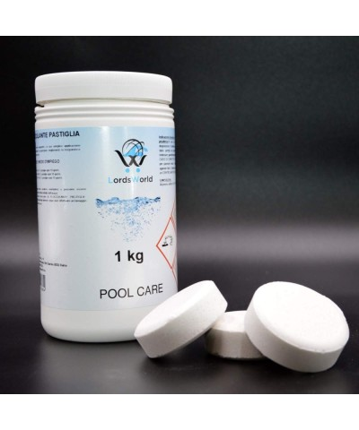 Flocculant tablet 100gr clarifier for pools water - anti-turbidity 1Kg LordsWorld Pool Care - 2