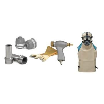 Tous les accessoires nécessaires pour le sablage et le décapage de peinture.