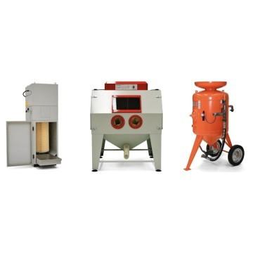 Máquinas de chorro de arena para superficies de chorro de arena