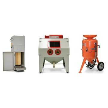 Sand blasting machines for blasting of surfaces